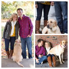 Fall family photos with the pup