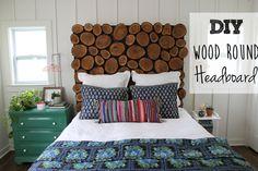 DIY Wood Round Headboard Tutorial from thewhitebuffalostylingco.com