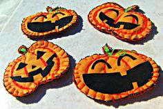 Halloween Pumpkin Pins Direct Checkout Trick or by Lusmysticjewels, $2.50