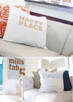 diy screen print pillows | the handmade home
