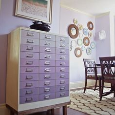 Lavender Ombre File Cabinet ---so want one of these cabinets! Painted or not