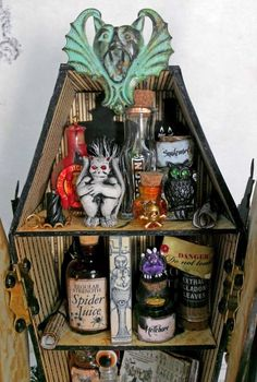 Artfully Musing: Coffin Apothecary with Raven Doors – NEW Collage Sheet & Digital Image Set – VIDEO TUTORIAL http://artfullymusing.blogspot.com/2014/09/coffin-apothecary-with-raven-wings-new.html