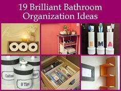 19 Brilliant Bathroom Organization Ideas bath organization, organ idea, organizations, bathroom storage, brilliant bathroom, bathrooms, bathroom organization, storage ideas, organization ideas