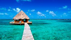 View from the Glover Atoll Resort in Belize