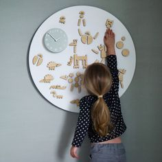 toy, play clock, magnet play, inspir, children clock