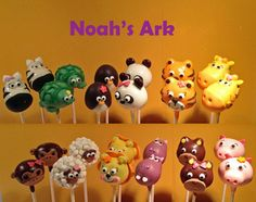 Carnival circus themed animal cupcake toppers picks decorations - Animal Cake Pops On Pinterest Jungle Cake Pops Flower