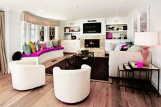 beautiful white and crisp living room