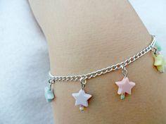 Fairy Kei Star Bracelet, Candy Pastels, Cute & Kawaii :) bracelet candi, kawaii, fairies, bracelets, candi pastel, candies, fairi kei, kei star, star bracelet