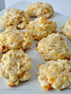 Melt In Your Mouth Cheddar Biscuits-  these biscuits are amazing! And simple to make.