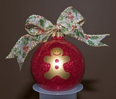Cathy's Crafts & More: Gingerbread Glitter Ball Ornament