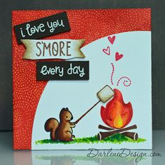 Love You S'More by Lawn Fawn - with video tutorial.