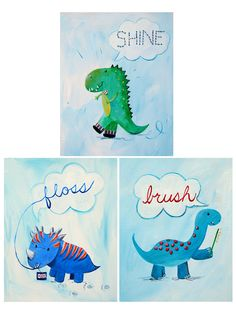 Brush, Floss, Sparkle Set Paper Print by Cici Art Factory at Gilt