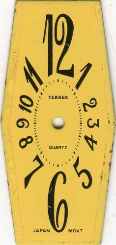 yellow clock face