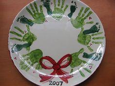 Handprint wreath plate