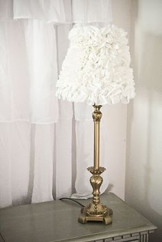 Ruffled Lamp Shades!