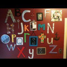 d alphabet themes  Alphabet wall ideas
