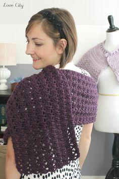 Love City: crochet love {one skein wrap}