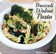 Broccoli Walnut Pasta  #vegetarian #healthy #recipes #food
