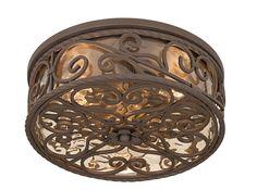 """Casa Seville 15"""" Wide Indoor - Outdoor Ceiling Light Fixture -"""
