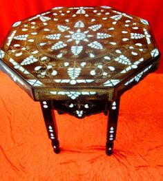 mother of pearl coffee table