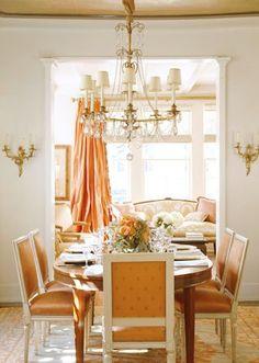 Love the orange rust color decor <3