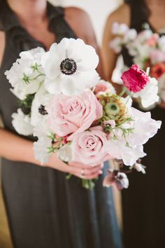 Bridesmaid bouquet: http://www.stylemepretty.com/little-black-book-blog/2014/10/20/cozy-winter-wedding-at-liberty-warehouse/   Photography: Tory Williams - http://weddings.torywilliams.com/