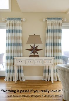 Beach house :) these curtains!