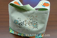 Owlivia Slough Bag by Lisa Klingbeil, Through the Needle ONLINE magazine