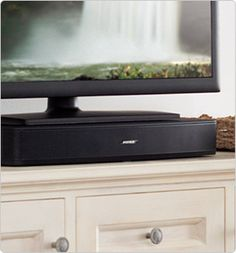 A single, high-performing speaker that fits neatly beneath your TV.