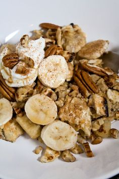 omg i want this now!- Matzah Brei with Bananas & Pecans #Passover