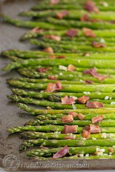 Roasted Asparagus with Bacon. Scrumptious! @NatashasKitchen
