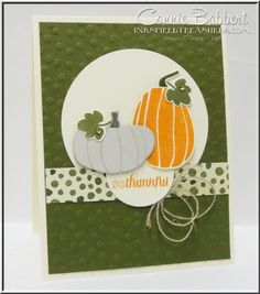Fall Fest, Stampin Up, #stampinup, pumpkins, Fall Fun Framelits, Color Me Autumn DSP, Connie Babbert, www.inkspiredtreasures.com