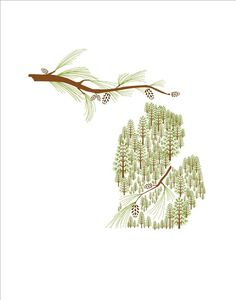 Michigan State print #trees