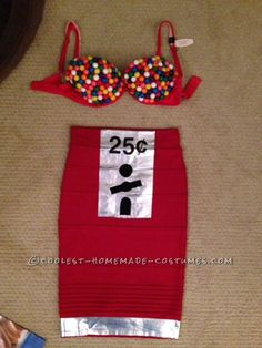 Sexy Homemade Gumball Machine Costume ... This website is the Pinterest of costumes