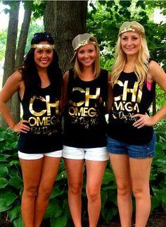 Chi Omega Bid Day outfits