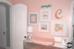 Gallery wall in pink nursery - #projectnursery