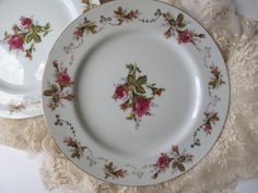 Lovely Vintage Summit China Moss Rose Dinner by thechinagirl, $34.50