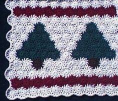 Free Christmas Tree Afghan Crochet Pattern