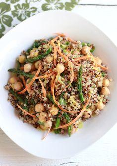 Curried Quinoa + Asparagus Salad