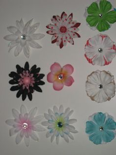easy and sew free homemade #hairclips (flower petals, brads, and alligator clips) - sounds like a fun friday #craft
