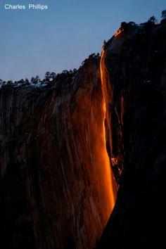 Horsetail Falls - Natural Fire Falls