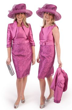 Luis Civit Deep Pink Dress and Jacket Mother of the Bride Outfit