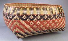 Chitimacha (Louisiana), Plaited Storage Basket, rivercane, c. 1890.