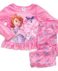 Disney Kids Pajamas, Toddler Girls Sofia the First 2-Piece PJs