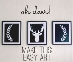 Make this: Oh Deer! art via www.theshabbycreekcottage.com