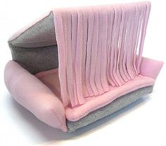 Flippin Fun Futons - Flexible and Reversible Fleece Chair/Lounger for your Guinea Pig