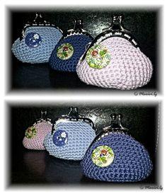 Mini monederos de #crochet