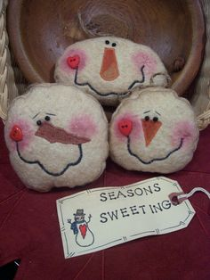 silly snowmen - use for snowballs in a bucket for indoor snowball fight