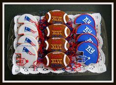 The Painted Cookie - Superbowl 46 cookies