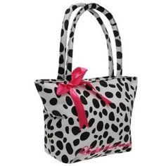 Black Dalmata Spots Golddigga Lunch Bag  #black #spots #lunch #bag #golddigga